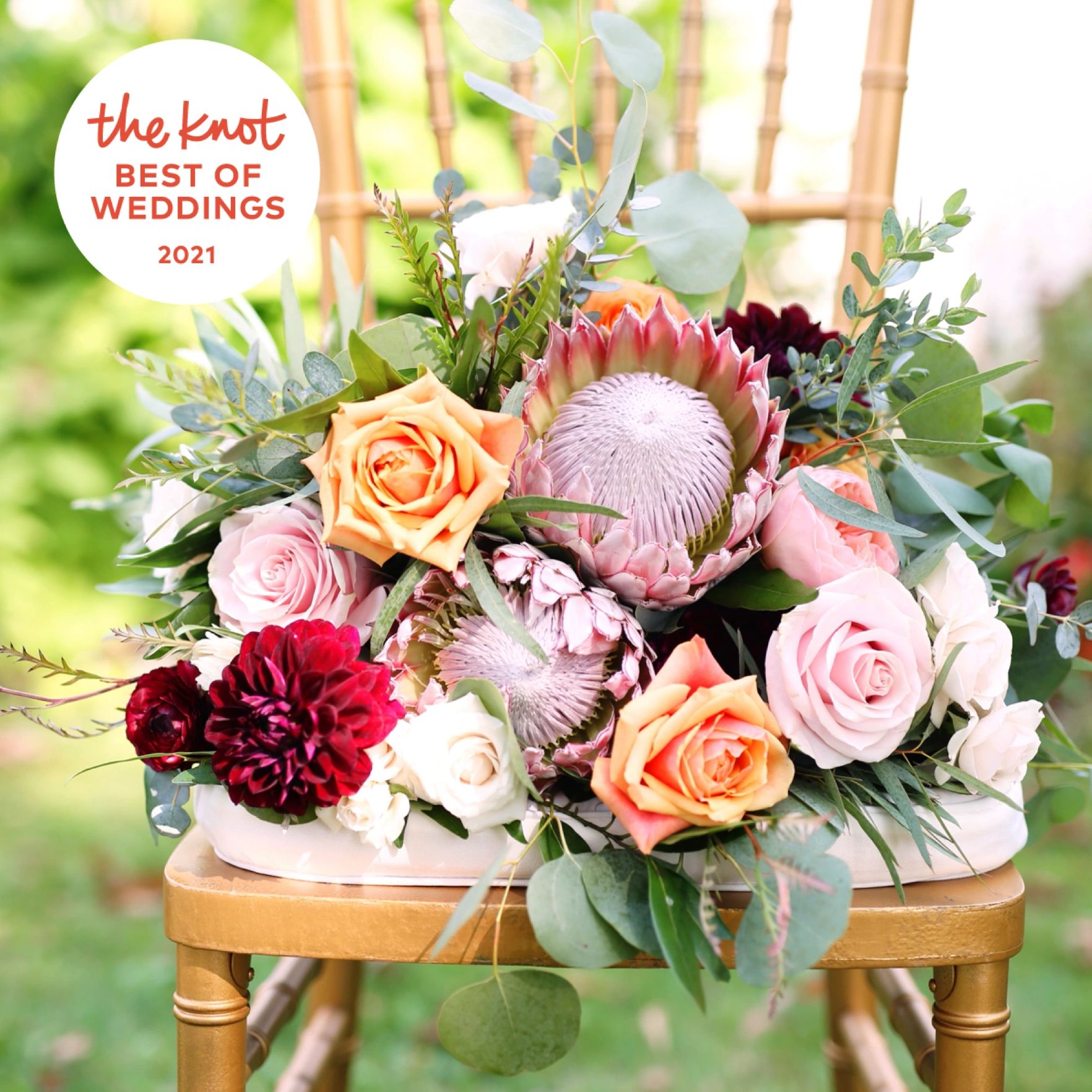 The Knot Best of Weddings 2021 Bridal Flower Bouquet