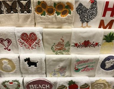 Made in USA embroidered towels