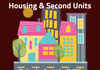 Poster for our Open House on Housing and Second Unit policies.