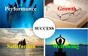 Success is best achieved by pursuing a timely balance of Performance, Growth, Satisfaction and Well-Being