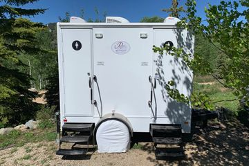 2 stall royal restroom trailer at private party in Midway Utah