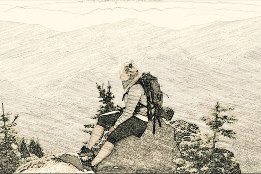 solitude seeker. hinterland hiker. trail traipsed. bird nerd
