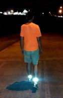 Reflective Ankle Bands at night