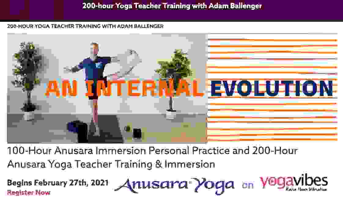 The Internal Evolution Immersion & Teacher Training with Adam Ballenger, an Anusara Yoga training th