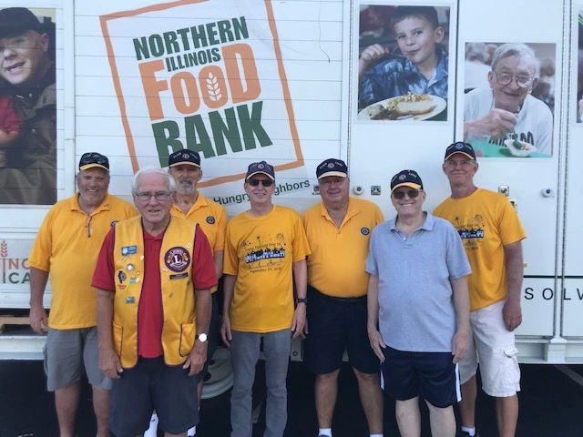The Elgin Lions also assist the Northern Illinois Food Bank with food distribution