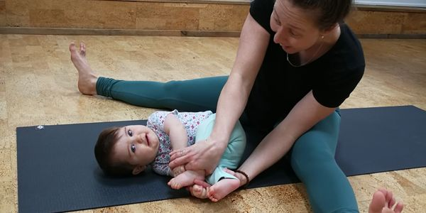 Mom and Baby Yoga Postnatal mommy & me newborn post natal