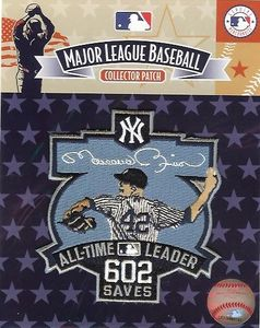 Mariano Rivera 605 All Time Saves Leader Patch