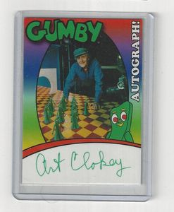 Art Clokey Signed Gumby Trading Card made by Toon's Station.