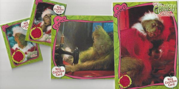 Grinch Costume Cards Set of 4