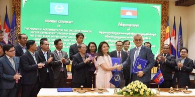 ADB Cambodia signed deal ADB Facebook