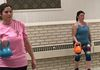 Bicep curls using the kettlebell