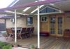 Timber deck and gabled awning