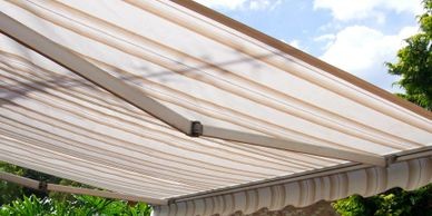 Folding Arm Awning for pergola patios and outdoor areas