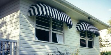 Fixed Frame Awnings for over windows and doorways - awning on frame