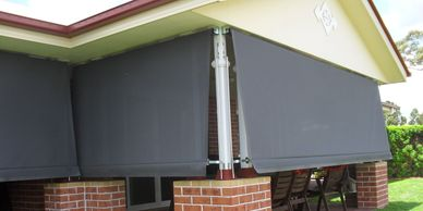Mesh Auto Awning stop anywhere on track
