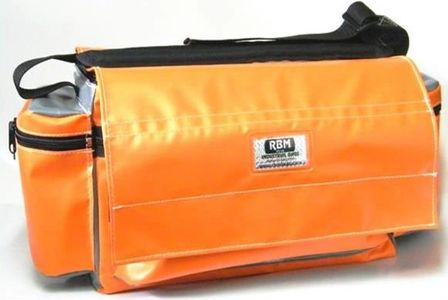 RBM Lockable Electrical Bag with side pockets and flap over the top and heavy duty shoulder strap