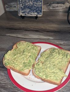 Avocado on buttermilk toast. Photo by Fiesta in r Siesta RV.