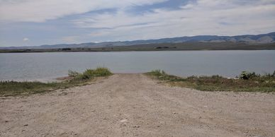 Boat launch at Ray Lake, Wyoming.  Photo by Fiesta in r Siesta RV