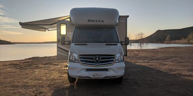 Boon docking at  Cedar Canyon Campground in Texas, photo by Fiesta in r Siesta RV