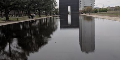 Reflecting pool at the Oklahoma City National Memorial Museum. Photo by Fiesta in r Siesta RV