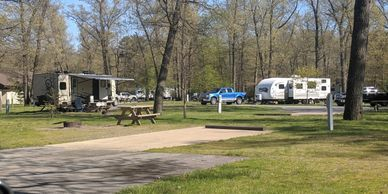 Indiana Dunes State Park campground West Loop. Photo by Fiesta in r Siesta RV
