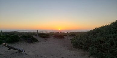 Sunset at Morro Strand State beach.  Photo by Fiesta in r Siesta RV