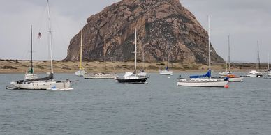 Morro Bay Rock, photo by Debi at Fiesta in r Siesta RV