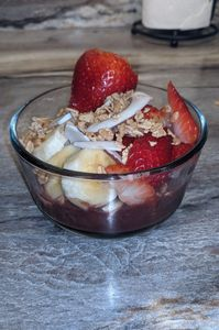 Acai bowl for breakfast. Photo by Debi from Fiesta in r Siesta RV