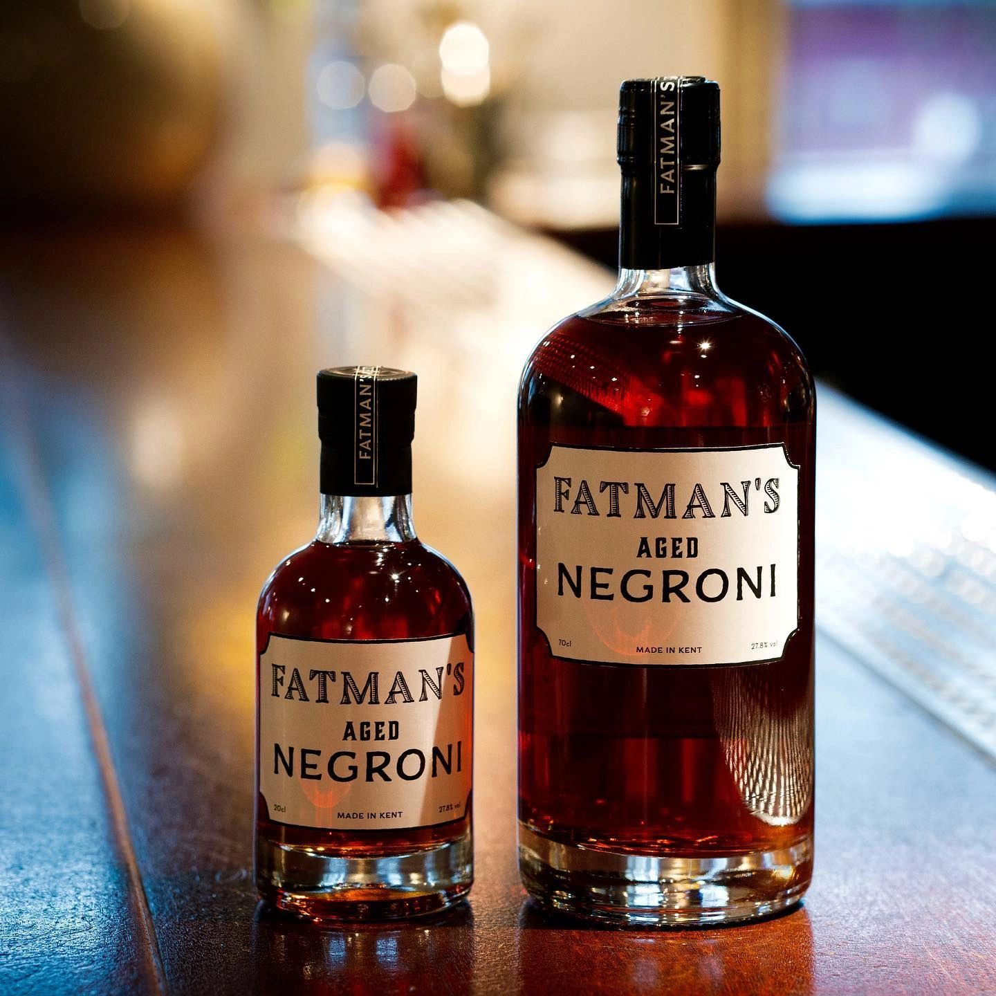 Fatman's  Aged Negroni, bottled cocktails, beer wine and spirits gift cards.