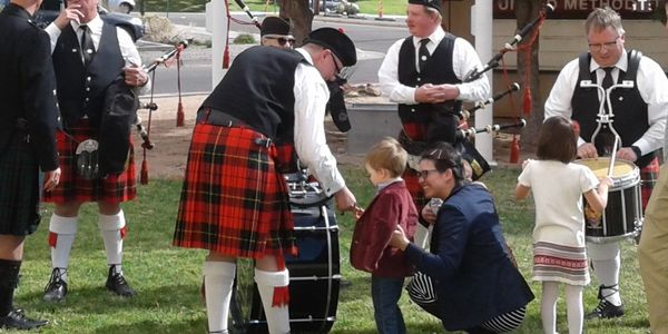 High Desert Pipes and Drums entertained for our Kirkin' o' the Tartan