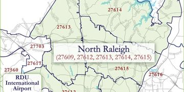 North Raleigh Map