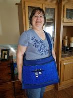 Embroidered lap top bag. Dr Who's Tardis