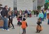 Trick or treaters at the Trunk or Treat event