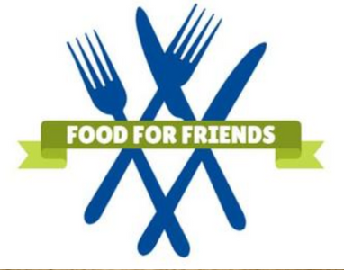 Food for friends logo with knives and forks