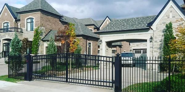 wrought iron gate, wrought, iron, gate, faac,gate opener, operator, gate arms, installation, install