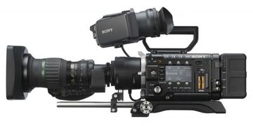 "My Sony F5 with 2/3"" B4 lens in an ENG configuration. Works just like a 2/3"" camera but can be 4K."
