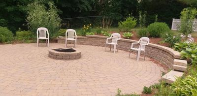 Patio Design from DeChambeau Landscaping in East Bridgewater and West Bridgewater, Massachusetts,