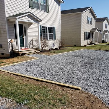 Driveway install Winchester gravel delivered stone 21a crusher run 57s #hardyardz Winchester VA rock
