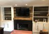 Custom Built In Cabinets, Reclaimed Mantle and Fireplace Remodel, Huntington Beach, CA