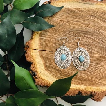 Southern concho bohemian earrings