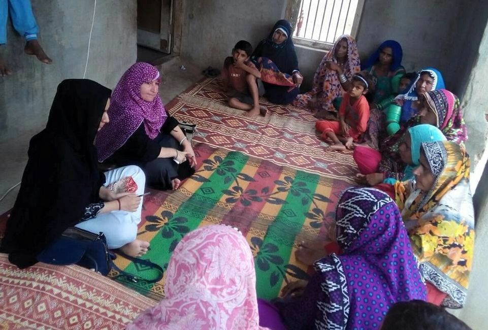 Focus Group Discussion with a female group in rural Pakistan