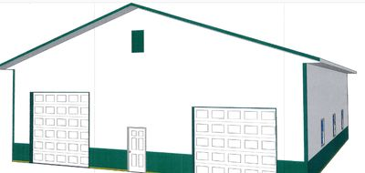 Pole barn design on sketch up.