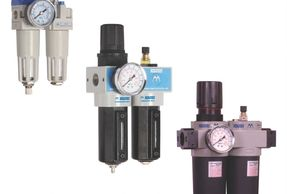 Compressed air treatment, preparation units, Lubricator, pressure regulator and filter, LFR,