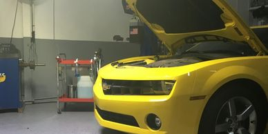Vehicle in Service Smart inspection bay. Have your vehicle thorough evaluated by a certified auto care professional.