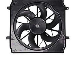 Radiator Fan Replacement - Related to Cooling System Overheating Repairs - Auto Repair shows radiator fan as part of repair fix.