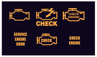 Check Engine Diagnostic Illuminating Lights, Check Engine Light Repair Symbols, SW Houston Auto Repair Shop Repairs Check Engine Light related problems.