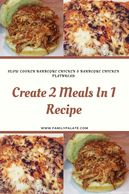 Easy Slow Cooker barbeque chicken, barbeue chicken flatbread, easy barbeque chicken, easy flatbread