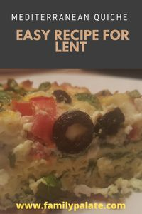 easy recipes, the best quiche recipe, vegetarian quiche, quiche recipe, easy lent recipes