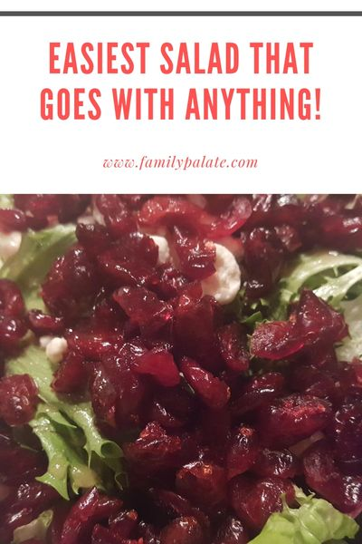 cranberry and goat cheese salad, easy salad recipes, salad for dinner, side salads, quick salads
