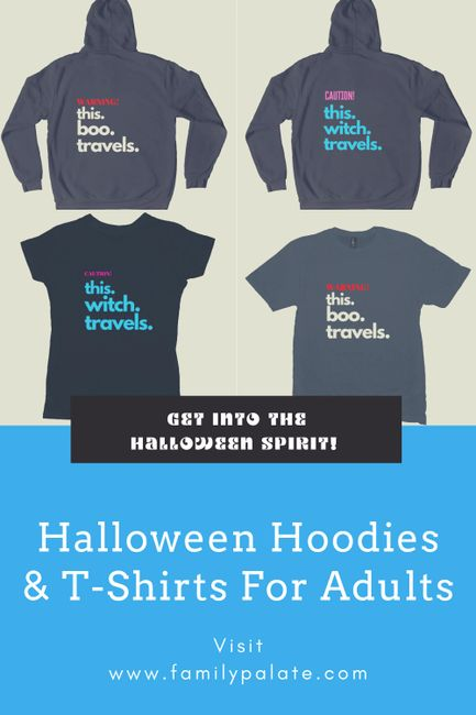 halloween hoodies, halloween clothing, halloween on ets, etsy, famiypalate etsy